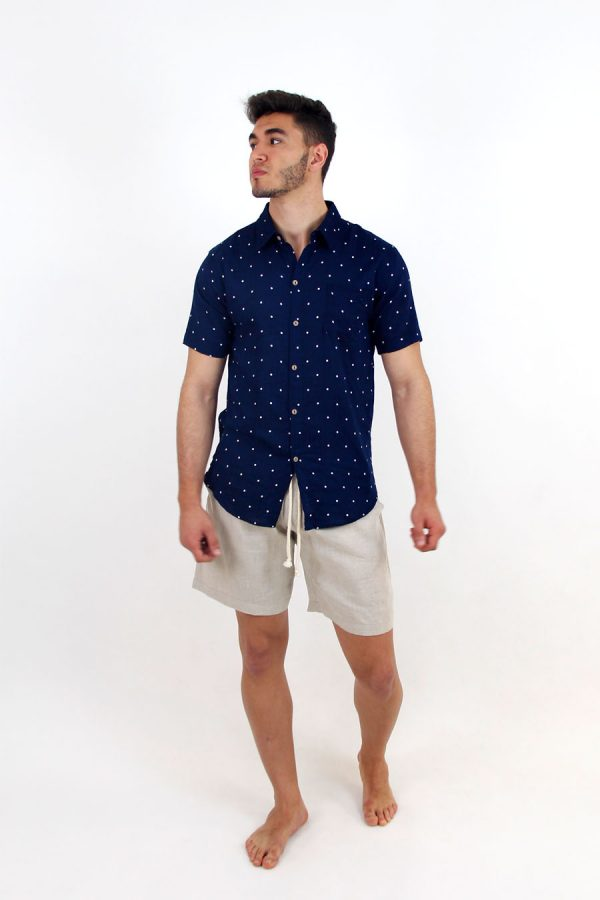SHIRT MIAMI - XXL - Topos Navy