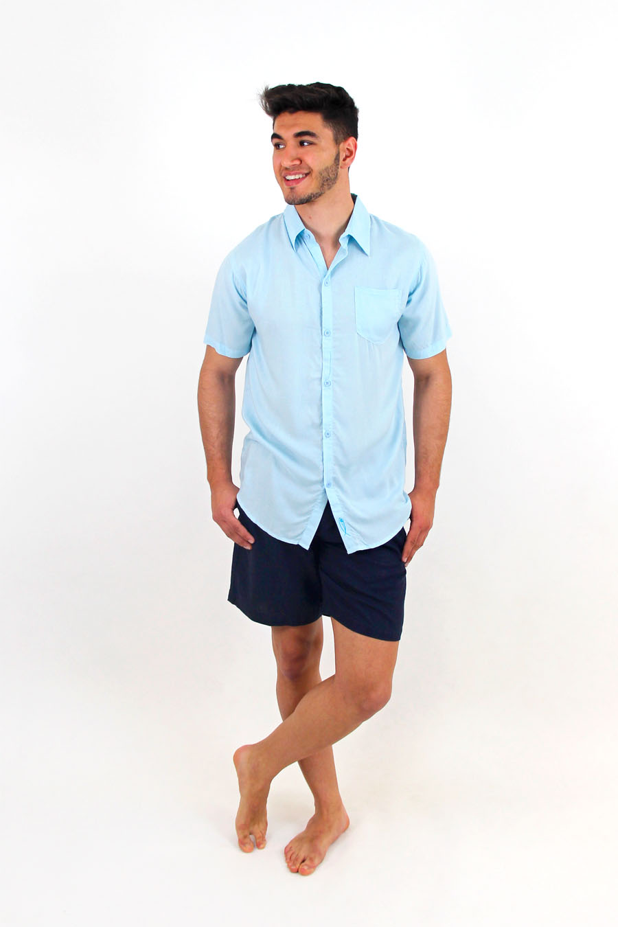 SHIRT SANTORINI MC - XXL - Sky Blue
